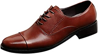 Men Lace Business Leather Shoes Casual Comfortable Wedding Shoe Male Suit Shoes Leather Formal Wedding Shoes