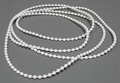 ps FASTFIX Endloskette - Rollokette (weiß) 4,5 * 6 mm - verschweißt - 50-300 cm - Hier 150 cm (Umlauf: 300 cm) - mit Kettenspanner - Ersatzkette für Rollo