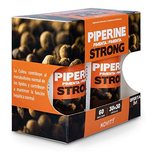 Novity - Complément Alimentaire pour Homme et Femme – Piperine Fort Strong – avec Choline (Bruleur de l'Anxiété), Riche en Acides Graisses