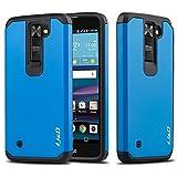J&D Case Compatible for LG Phoenix 2 / LG Escapte 3 / LG K8 2016 Case, Heavy Duty Dual Layer Hybrid Shock Proof Protective Rugged Bumper Case for LG Phoenix 2, LG Escapte 3, LG K8 2016 Case, Purple