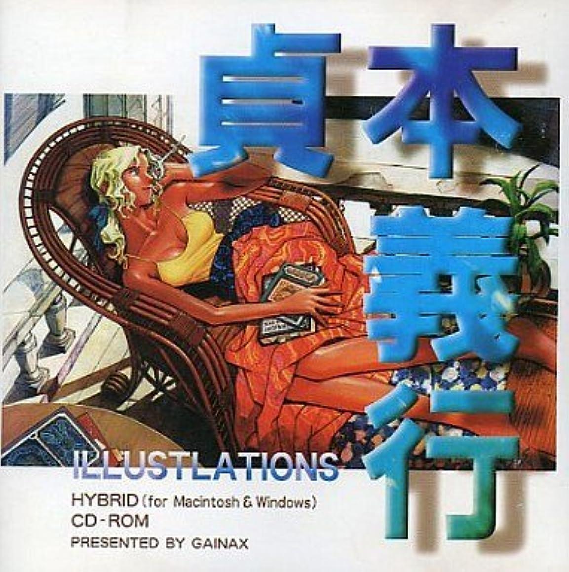 雇用者脱獄サービス貞本義行 画集 CD-ROM画集 Win3.1 & Mac HYBRID CDソフト