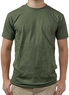 US.SOFFE.OD.Tシャツ (T41N)グリーン無地、ワッペン付