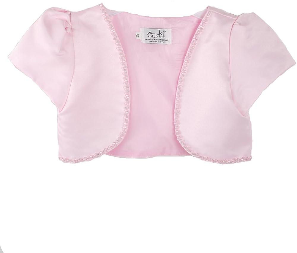 Cinda Clothing Little Girls' Satin Bolero