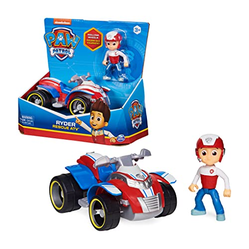 PAW PATROL Ryders Vehicle with Collectible, for Kids Aged 3 and up Ryder's Rescue ATV vehculo con Figura Coleccionable, para nios de 3 aos en adelante, Color Ryder, X-Large (Spin Master 6060755)
