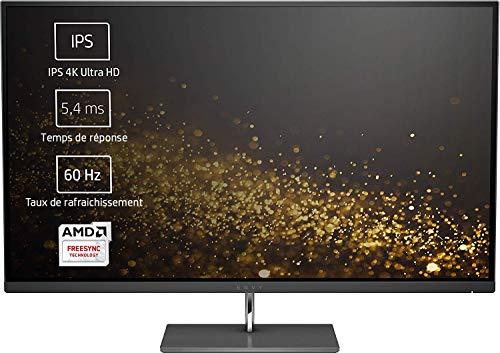 "HP ENVY 27s Ecran PC 4K Ultra HD 27"" Noir (IPS/LED, HDMI/DisplayPort, 3840 x 2160, 16:9, 60 Hz, 5 ms)"
