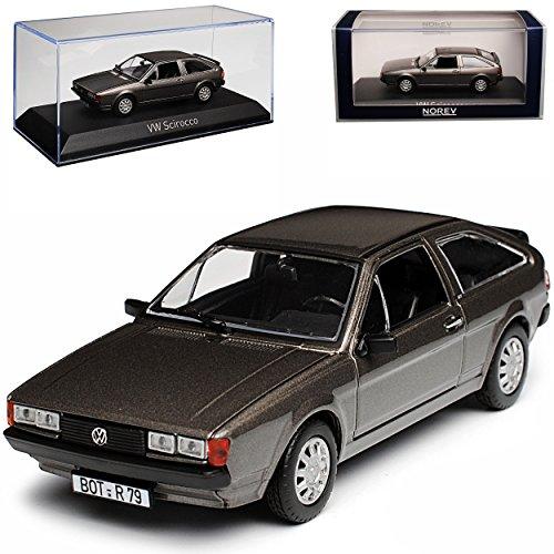 Norev Volkwagen Scirocco II GT Coupe Grau Metallic 1981-1992 1/43 Modell Auto mit individiuellem Wunschkennzeichen