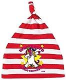 Gorro de bebé de Hariz, con nudos, rayas, para el mejor mundo de la hermana grande, unicornio, nacimiento de cumpleaños, incluye tarjetas de regalo blanco Bomberos rojo/blanco lavado.