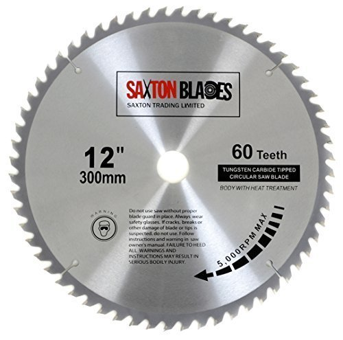 Saxton TCT lama per sega 300mm x 30mm denti per Bosch, Makita ecc