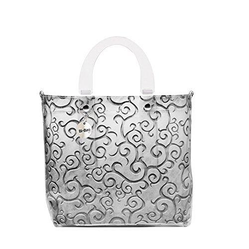 Bi-Bag - Bolso cruzados para mujer gris plata