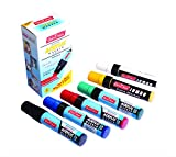Soni Officemate Jumbo Acrylic Permanent Marker Pens with Set of 6 Colors for Paper/Rocks/Wood/Canvas/Glass/Ceramic