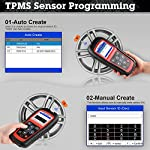 Autel MaxiTPMS TS501 TPMS Relearn Tool Automotive Scan Tool with Activate TPMS Sensors/TPMS Sensor Programming/Program… 14 【Upgraded Version of TS408, 2021 Newest】TS501 TPMS Tool can diagnose newest models up to 2020 with frequent updates. It packed ALL TPMS service options: TPMS programming(MX-Sensors), sensors Relearn/Activation, TPMS Reset and TPMS health diagnose, read sensor data, key fob frequency test. Please send VIN to : ❤Autelonline @outlook.com❤ CHECK COMPATIBILITY. 【TPMS Programming】 TS501 TPMS Programming Tool enables all car enthusiasts to program sensor data to Autel MX-Sensors with ease, saving you the money and trip to a dealership. With TS501, you can program AUTEL MX-Sensor (315/433MHz) with 4 programming options: Copy By Activation, Copy By Manual Input, Auto Create and Copy by OBD( Not available with TS408) to replace the faulty sensor with low battery life or one that is not functioning well. 【Relearn All TPMS Sensors】TS501 has added Relearn by OBD comparing with TS408. To turn off the TPMS warning light after replacement, you need to relearn the sensors to the vehicle! Autel TS501 TPMS Relearn Tool provides 3 ways of on-tool relearn precedures to relearn both OE and aftermarket sensors: Stationary Relearn, Automatic Relearn & OBD Relearn.