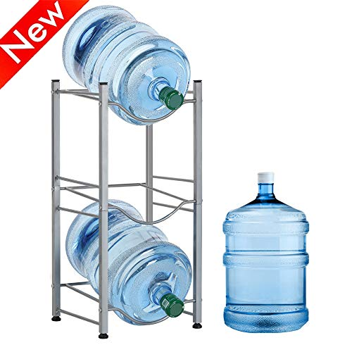 Nandae Water Cooler Jug Rack, 3-Tier Heavy Duty Water Bottle Holder Storage Rack for 5 Gallon Water Dispenser, Save Space