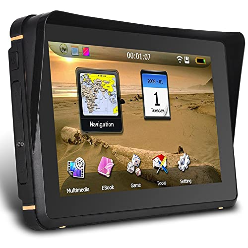 YINHA GPS Navigation with 7.0 Inch LCD Touch Screen for Motorcycle and Cars, 8GB Flash and Built-in 256MB RAM, Rugged Design, IPX7 Waterproof for Harsh Weather