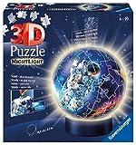 Ravensburger 3D Puzzle 11264 - Nachtlicht Puzzle-Ball Astronauten im Weltall - 72 Teile - ab 6 Jahren, LED Nachttischlampe mit Klatsch-Mechanismus