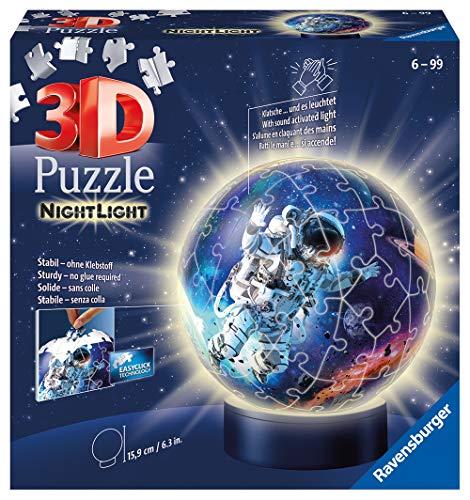 Ravensburger Puzzle 11264 Astronauten im Weltall Nachtlicht Ravensburger 3D Puzzle 11264-Nachtlicht-Astronauten im Weltall-72 Teile-ab 6 Jahren, Mehrfarbig