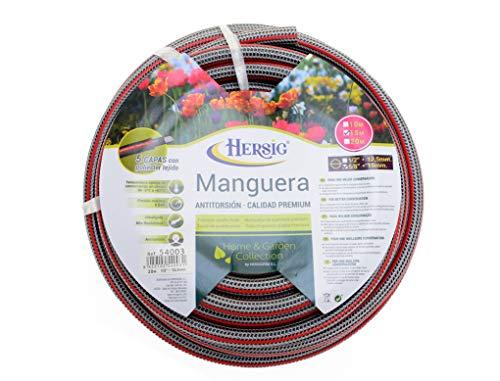 """HERSIG - Manguera de jardín antitorsión 15 Metros - 5/8"""" diámetro"""