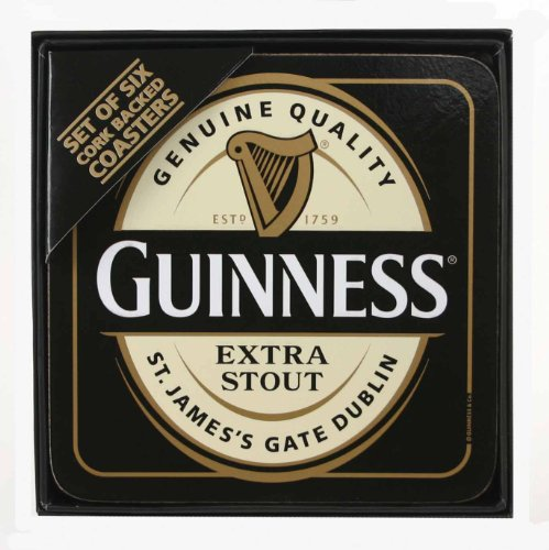 Set 6 Sottobicchieri da pub in Sughero Guinness beer PS 03706