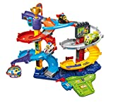 VTech Toot-Toot Drivers Twist & Race Tower, Racing Cars for Boys & Girls, Car Tracks for Kids with Lights & Sounds, Musical Toy Race Track, Ideal Christmas Gift for Children Aged 12 months to 5 Years
