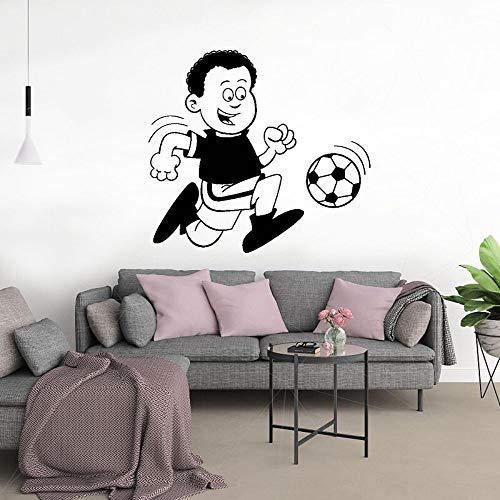 yaonuli Lustiger Junge Fußball Wandaufkleber Aufkleber Fußball Sport Aufkleber Familie Wohnzimmer Kunstdekoration 91x198cm