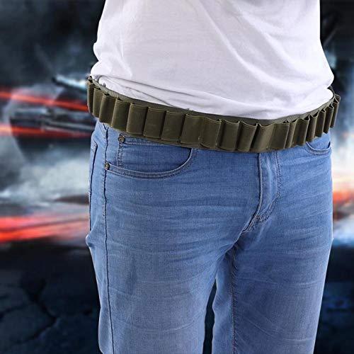 Demeras Soporte de munición de Bala de cinturón de Carcasa de Escopeta Durable para Disparar Accesorio para Escopeta(Green)