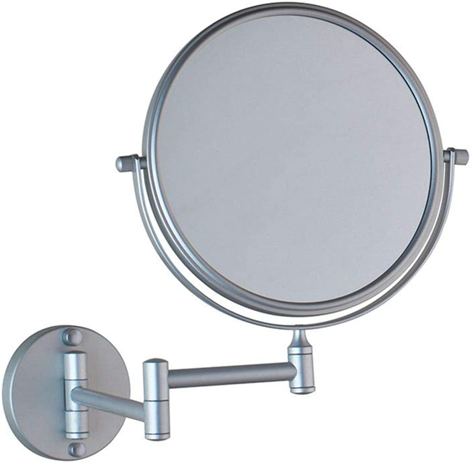 LUDSUY Makeup Mirrors Wall Mounted Extending Folding One Side Mirror Adjustable Bath&Toilet MirrorBathroom Accessories