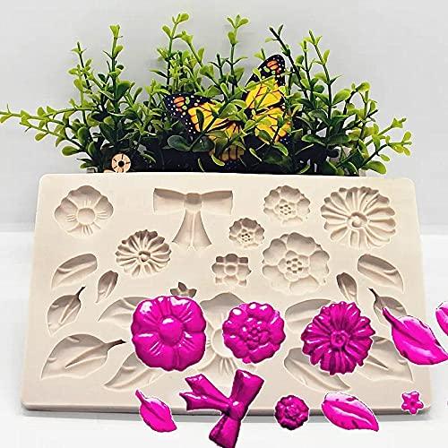 HAOBU Moldes Silicona reposteria Flor Hoja Arco Molde DIY Torta Decoración Fondant Chocolate Pasteles Moldes Herramienta de Resina Accesorios de Cocina