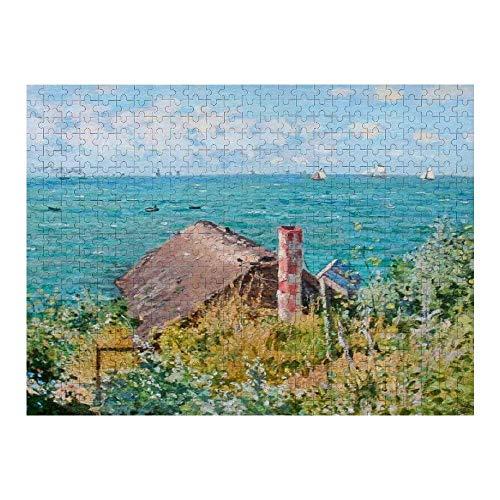 Hunnry The Cabin at Saint Adresse Claude Monet Fine Art Rompecabezas de 1000 Piezas para Adultos y familias, Rompecabezas clásico con Motivos Finos, colección de Arte, 50 x 75 cm
