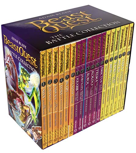 Beast Quest The Battle Collection 18 Books Box Set (Series 4 - 6) by Adam Blade