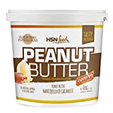 Mantequilla de Cacahuete de HSN | Textura Crujiente - Peanut Butter Crunchy - 100% Natural | Apto Vegetariano, Sin grasa de palma, Sin grasa trans, Sin azúcar ni sal añadidos, 1000g