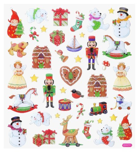 Hobby design *hiver noël vIII stickers autocollants 3452395 a