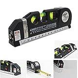 takestop LIVELLA Laser Tripla Level PRO 4 in 1 con Illuminazione Metro 250 CM di PRECISIONE 3 Bolle Fai da Te Elettronica