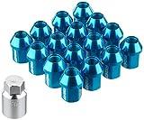 【RAYS(レイズ)】 ジュラルミンロック&ナットセット L32 4H用 M12X1.25 ブルーアルマイト 74020001117BL