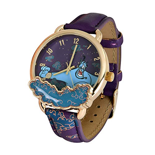 Accutime Aladdin Montre-Bracelet Jinni Disney Analogue Ø boîtier 3.7cm Or Violet