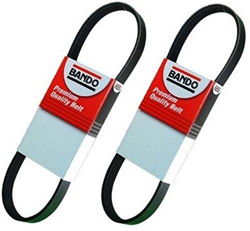 BANDO DRIVE BELT KIT(two pieces) Alternator- Air Conditioner-Power Steering Belt Set compatible with Subaru Forester (1998-12-31-06) STI (04-07) WRX (02-06) Legacy (98-04) Baja (03-06) Impreza (98-07)