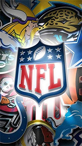 ACEYCYS 5D Diamond Painting Kit, American Football NFL Logo Poster DIY Kreuzstich Diamond Painting, Mosaik handgemachtes Geschenk Home Decoration 40x50CM