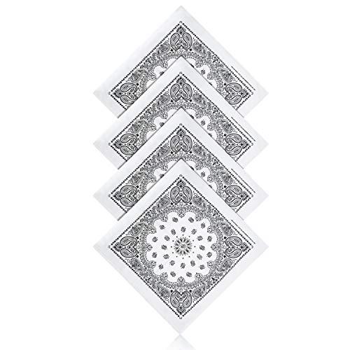 ZWOOS 2 Paisley Bandana Halstuch Bindetuch Haar Schal Ansatz Handgelenk Verpackungs Band Kopf Bindung, Set für Frauen, Männer und Kinder Mode-Accessoires(55 x 55 cm) 2