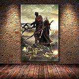BAOZHEN Ungerahmt The Game Poster Dekoration Malerei von