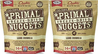 Primal Freeze-Dried Nuggets Lamb Formula Dogs 28oz (2 x 14oz)