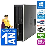 HP PC Compaq Pro 6300 SFF Intel G630 RAM 8Go Disque Dur 500Go Windows 10 WiFi (Reconditionné)
