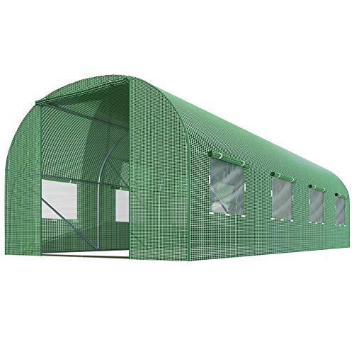 Plonos Foliengewächshaus Gartentunnel Folientunnel Treibhaus Garten 200 x 450 x 200 cm 9m2