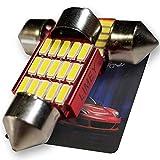 LIMEY T10 LED ルームランプ 31mm ホワイト白 爆光 15連 6000k 1.6W 無極性 キャンセラー 室内灯 車内灯 ルームライト 2個入