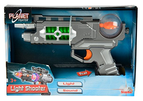 Simba 108046571 - Planet Fighter Light Shooter Pistole, 3-fach sortiert