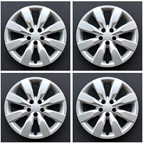 MARROW New Wheel Covers Replacements Fits 2014 2018 Toyota Corolla 16 Inch 8 Spoke Silver Color product image