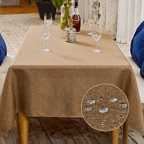 BALCONY & FALCON Nappe anti-taches, nappe rectangulaire, imperméable, élégante, pour Noël, anniversaire, 140 x 240 cm