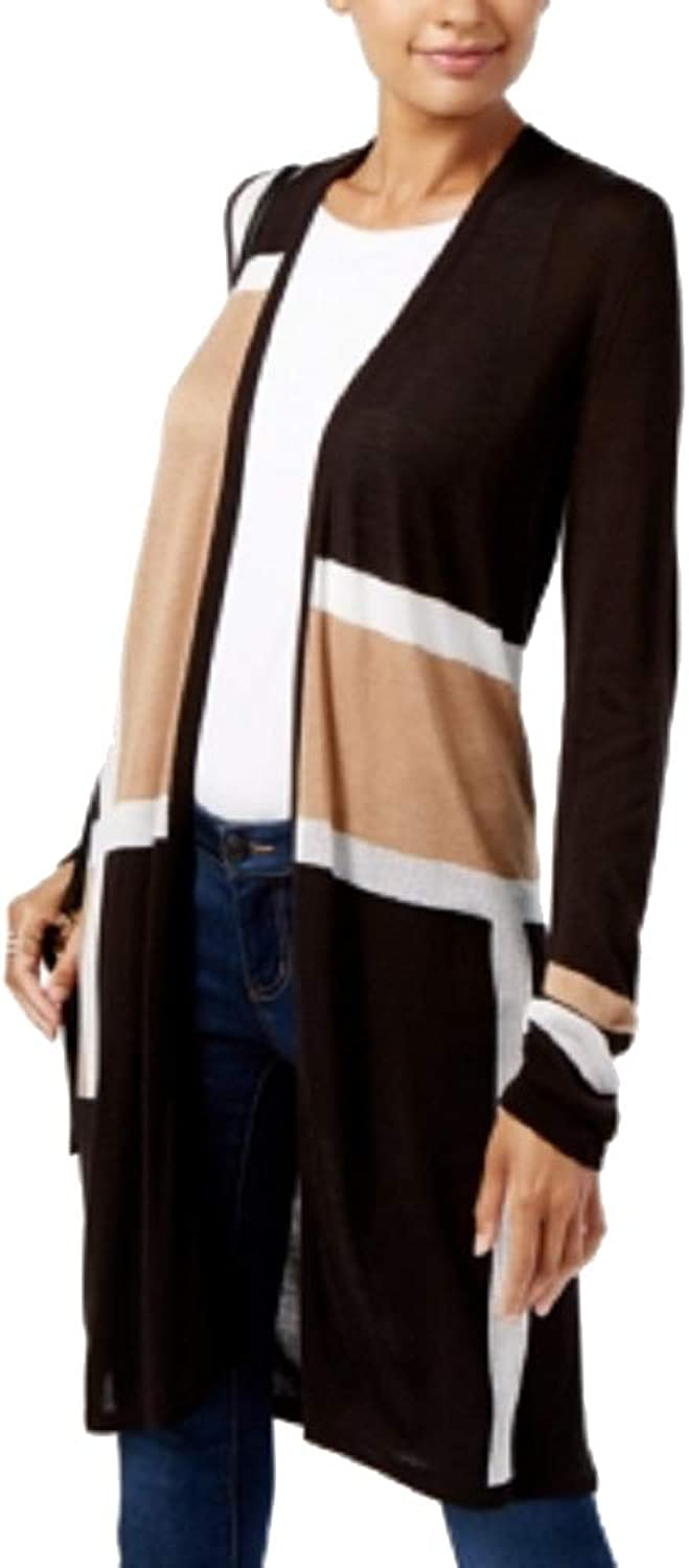 INC Womens colorblocked Duster Cardigan Sweater