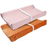 Product Image of the Vextronic Minky Dot Changing Pad Covers Ultra Soft Cradle Sheet Unisex Plush...