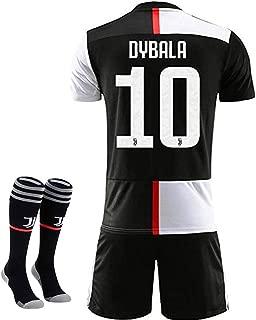 New 19-20 Season 10 Dybala Juventus Home Kids/Youth Soccer Jersey