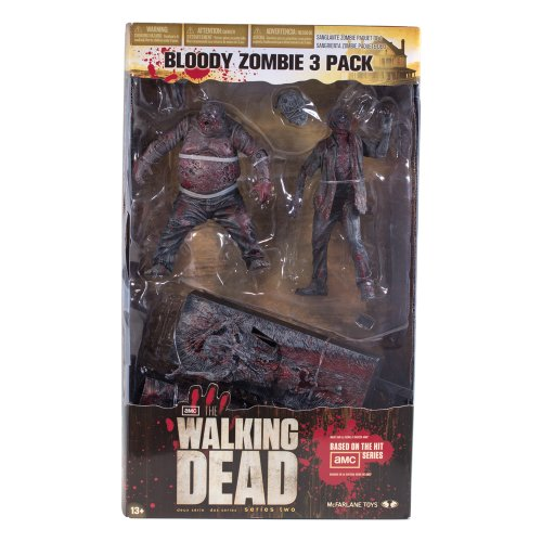 The Walking Dead Bloody Black&White Zombie 3-Pack
