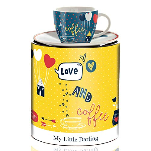 RITZENHOFF My Little Darling Espressotasse von Concetta Lorenzo, aus Porzellan, 80 ml, mit Untertasse