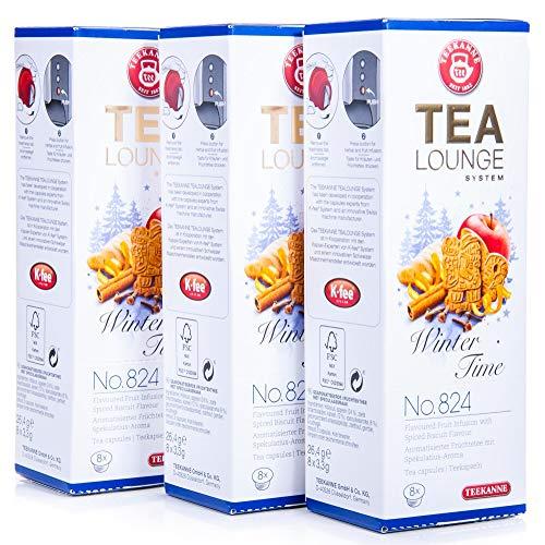 Teekanne Tealounge Kapseln - Winter Time No. 824 Früchtetee (3x 8 Kapseln)